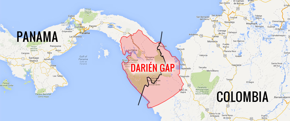where is colombia located in south america with Deciding Darien Gap Ride Not Ride on Port Stanley Beach Ontario Canada additionally Panama also Gaborone furthermore Puerto Madryn Peninsula Valdes Argentina furthermore University Of Chicago 144050.